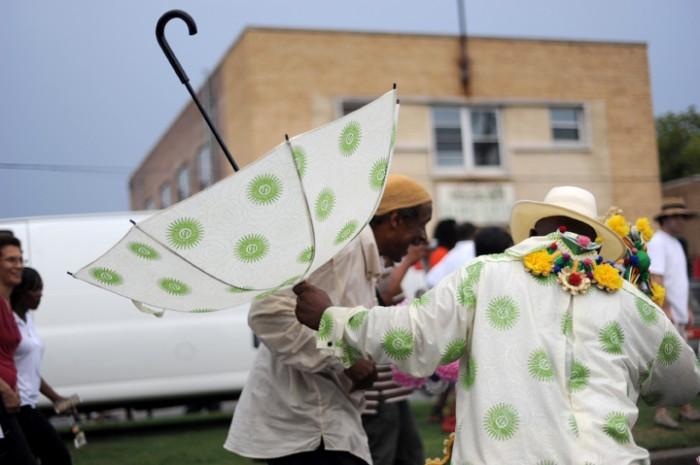 Black Men of Labor 2nd Line, Rain or Shine by Michelle Icahn