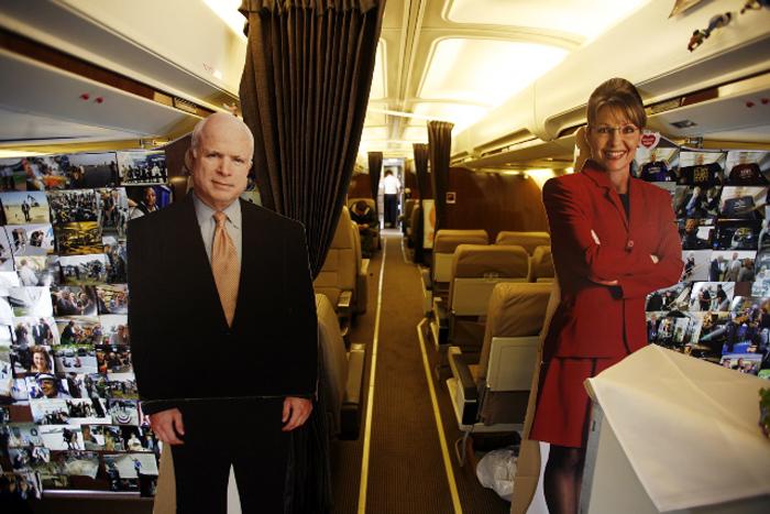 Aboard the McCain-Palin Special by David Burnett, 2008