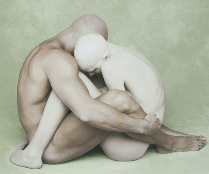 Male & Female Entwined by Joyce Tenneson