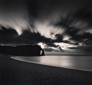 Falise d'Abal Par Nuit, Etretat, France by Michael Kenna