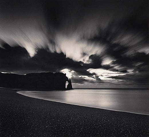 Falise d'Abal Par Nuit, Etretat, France by Michael Kenna