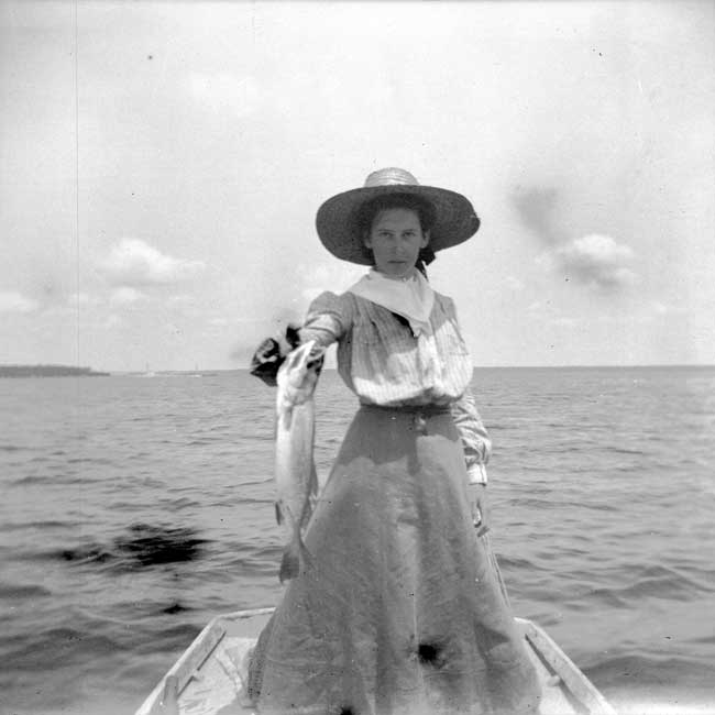 Lucie Fishing, Bay St. Louis, 1899 by Alexander Allison