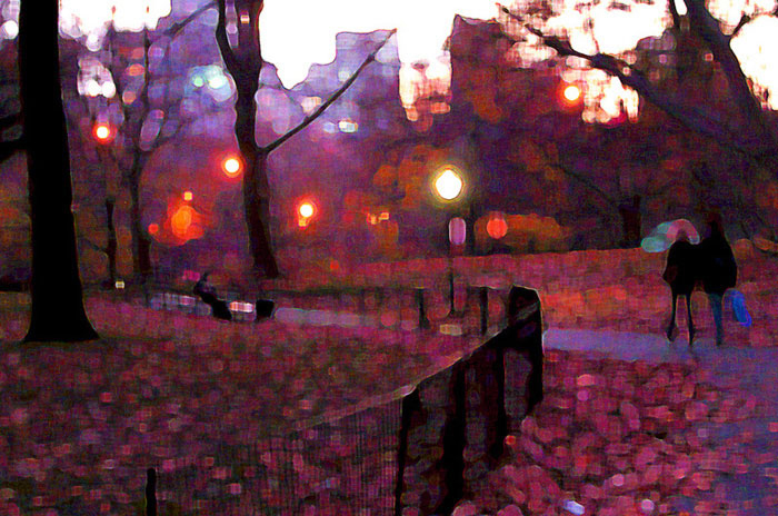 Lovers Stroll, Central Park 2006 by Max Singer