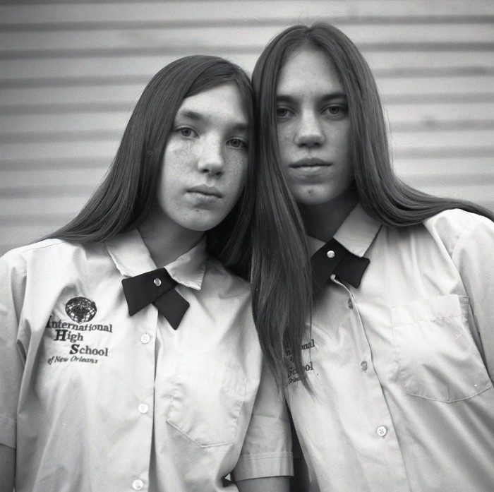 Two School Girls, Dauphine Street, New Orleans by Kevin Kline