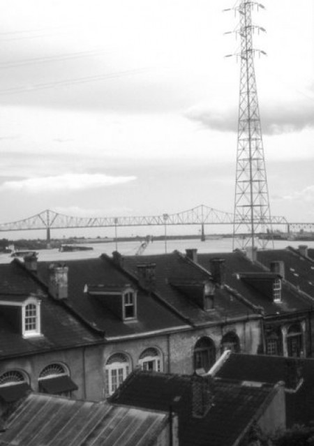 Philip Denman: Rooftop Scene, French Quarter and Bridge