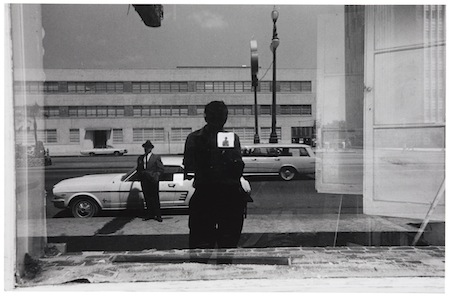 Lee Friedlander - Untitled (Self-Portrait Reflected in Window, New Orleans), circa 1965. New Orleans Museum of Art: Museum purchase through the National Endowment for the Arts Grant, 75.83