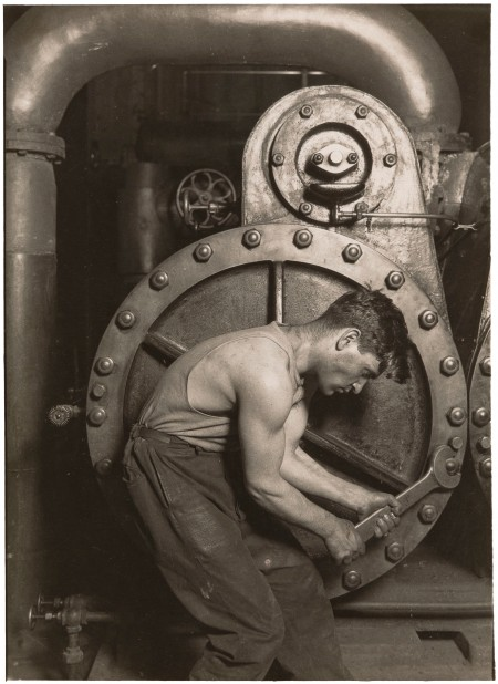 Lewis Wickes Hine - Mechanic and Steam Pump, circa 1930. New Orleans Museum of Art: Museum purchase, 74.84