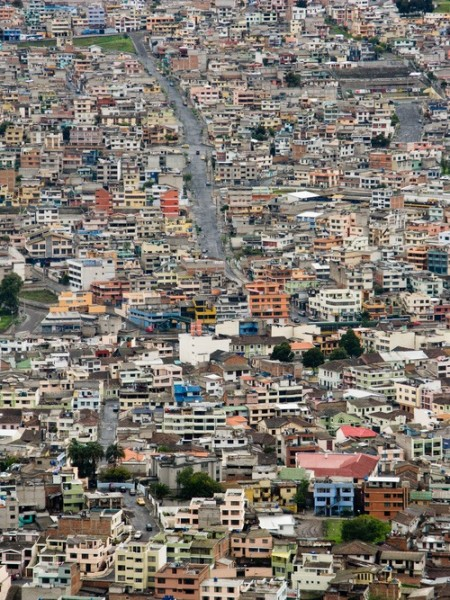 "View of the modern suburbs of Quito from El Panecillo hill; Quito, Ecuador; 2008; ©Richard Sexton; from ""Creole World: Photography of New Orleans and the Latin Caribbean Sphere"" (THNOC 2014)"