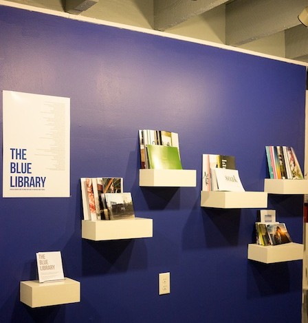 The Blue Library - curated by Tammy Mercure