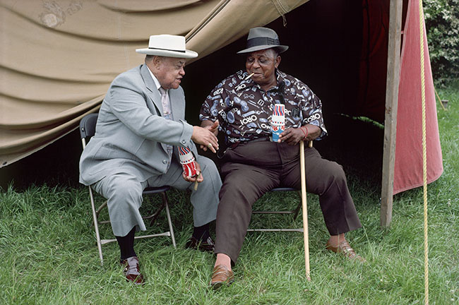 "Syndey Byrd - Joseph ""Big Joe"" Williams & Roosevelt Sykes, c. 1980"