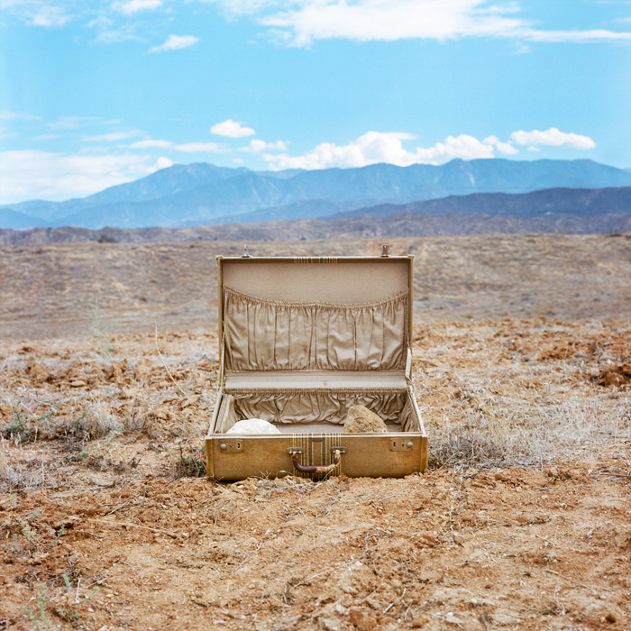 Aline Smithson - Desert Suitcase, 2013, from the series Due West