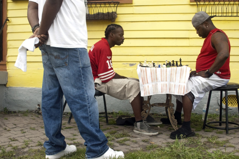 L. Kasimu Harris - Men playing Chess in the 7th Ward