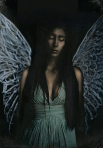 Laura Burlton - Maddie Angel Icon Blue, from Cirque de La Lune | Murmuration of Lights | PhotoNOLA 2017