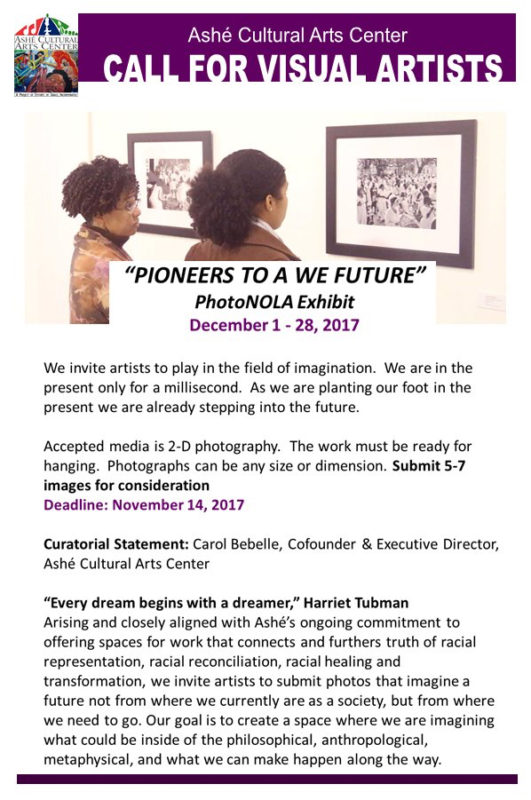 Open Call: Pioneers for a We Future | Ashé Cutltural Arts Center