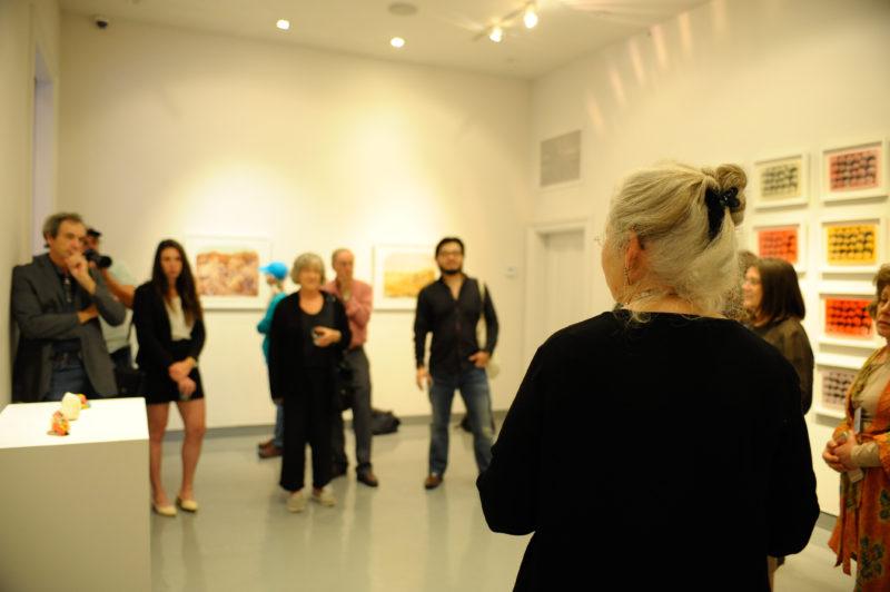 Barbara Ciurej and Lindsay Lochman artist talk at Martine Chaisson Gallery, PhotoNOLA 2015 © Samuel Portera