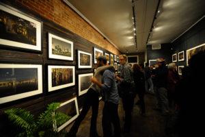 Frank Relle's pop-up exhibition on Magazine St., PhotoNOLA 2015 © Samuel Portera